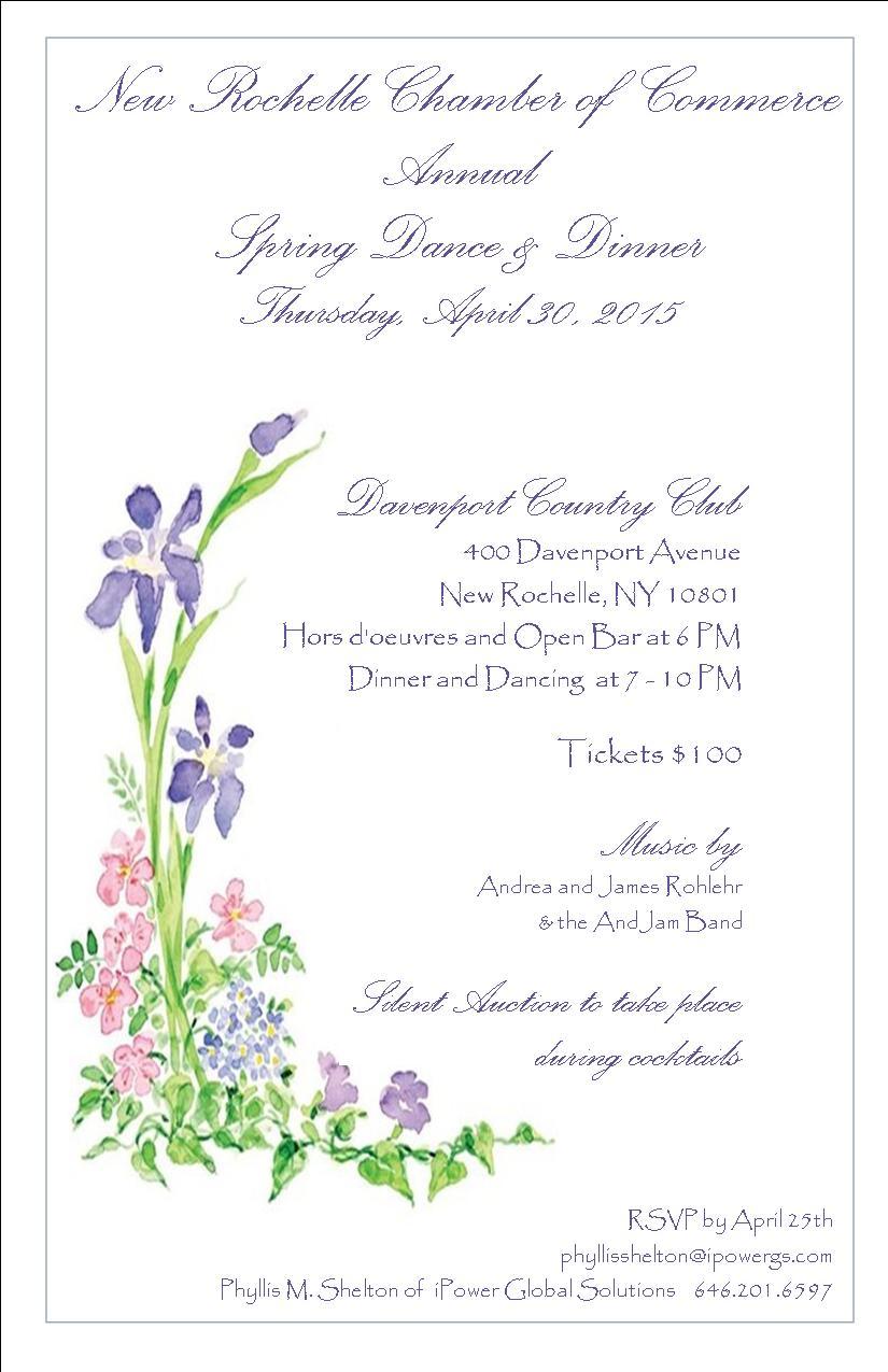 annual dinner dance new rochelle chamber of commerce dinner dance invitation